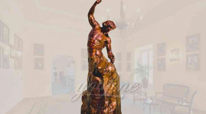 Classical decorative garden bronze self made man statue for sale