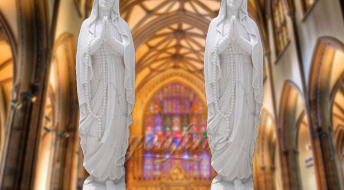 Decorative Life Size Marble Our Lady of Fatima Statue
