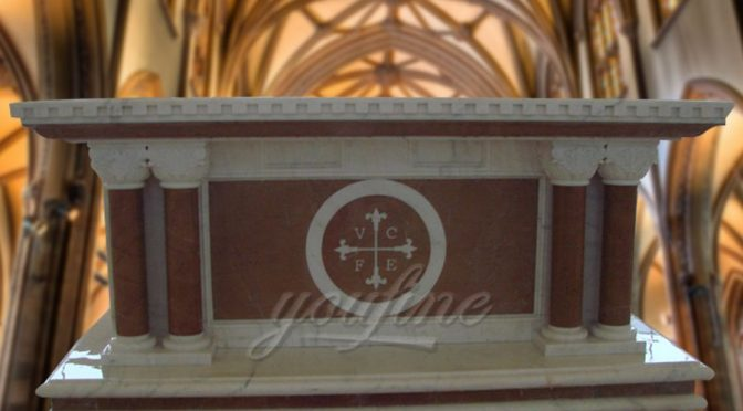 Hand Carved Religious Church Catholic Marble Altar for Sale