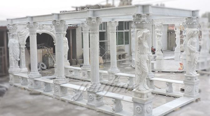 Decorative outdoor large marble gallery-1