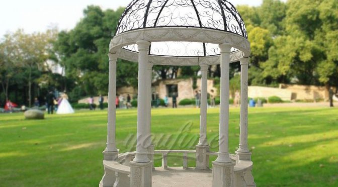 Garden decorative white marble gazebo with low price