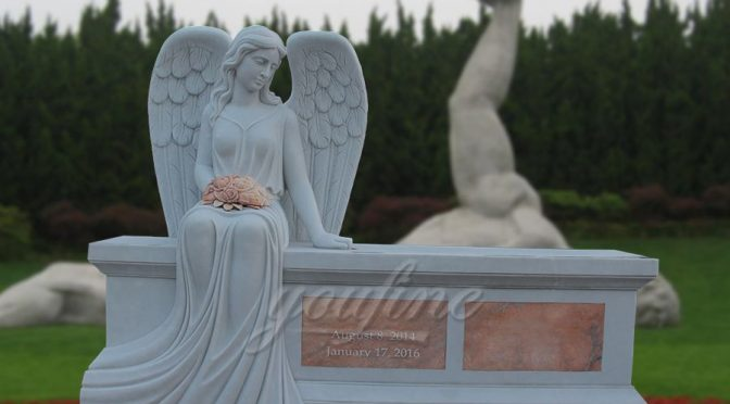 Hot Sale Beloved Angel Marble Headstone