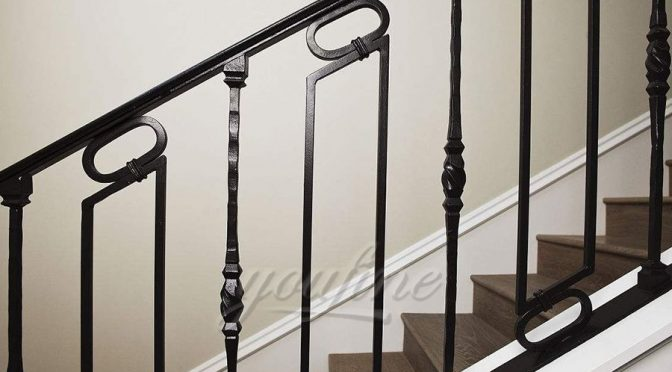 Outdoor Metal Wrought Iron Stair Railings