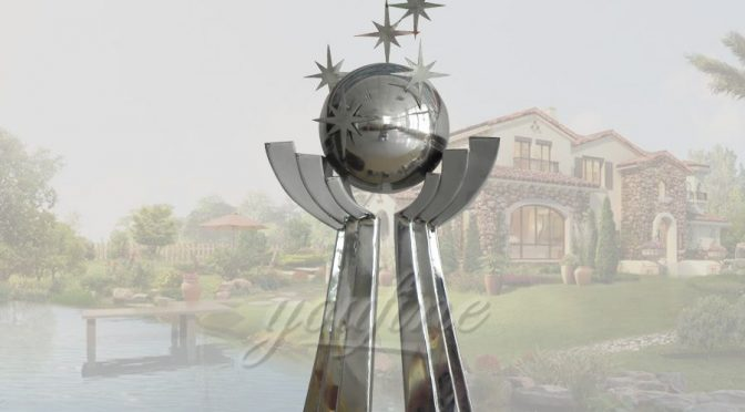 Park large stainless steel ball sculpture